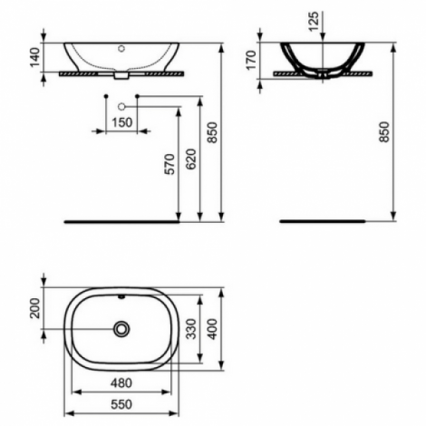 Praustuvas-dubuo Active 55 x 40 cm